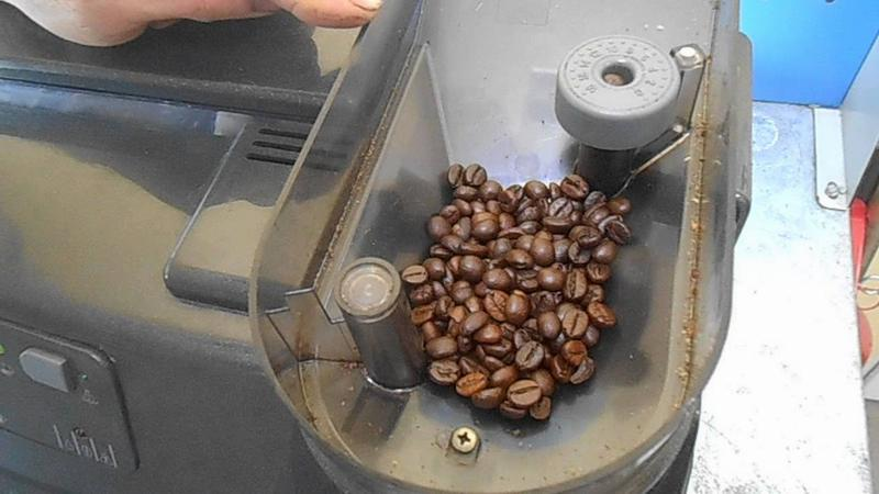Помол зерен в кофемашине