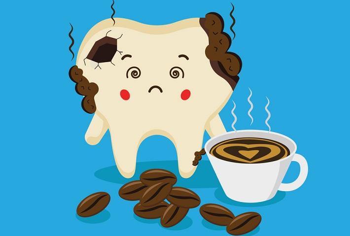 Зуб пострадал от кофе