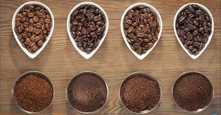 Разный помол кофе