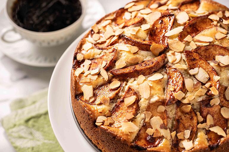Кофейно-яблочный пирог