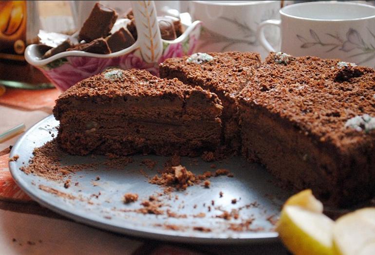 Шоколадной-кофейный пирог