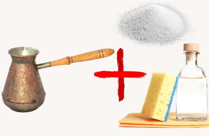 Чистка солью и уксусом