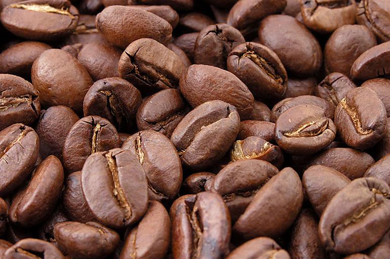 Зёрна кофе крупным планом