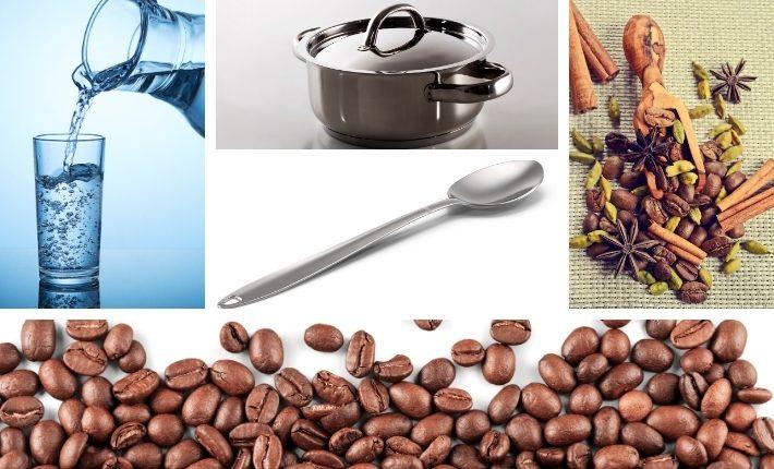 Ингредиенты и инвентарь для кофе