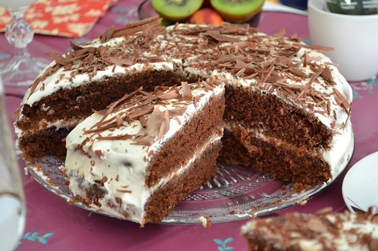Торт-сметанник кофейный