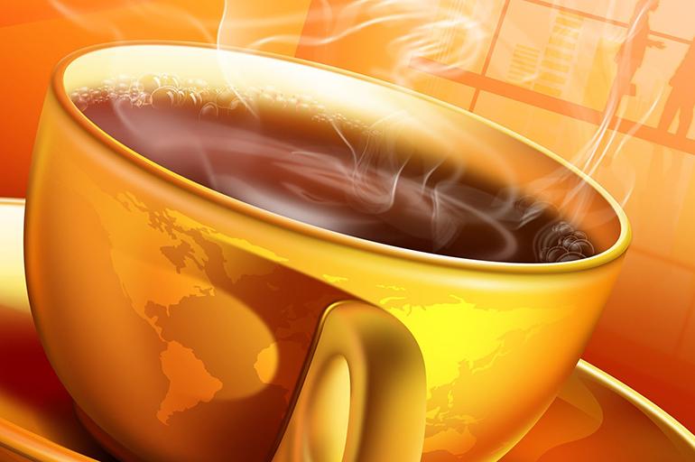 Горячий апельсиновый кофе