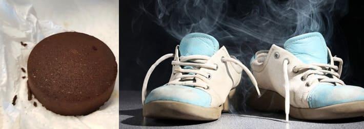 Жмых в качестве освежителя обуви
